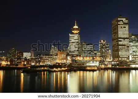 Dynamic City Core at Night