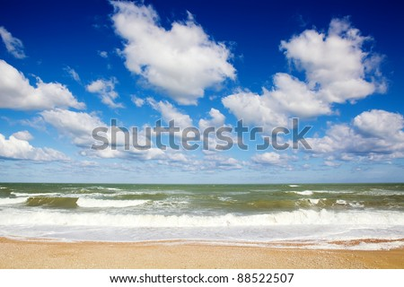 Dynamic clouds over the sea