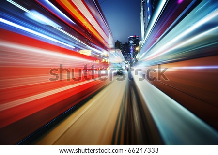 Dynamic red and blue motion blur abstract background