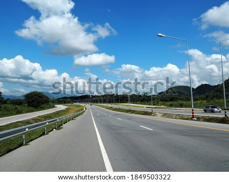 Dynamic road on superhighway in Chiang Rai, Thailand Stock photo ©
