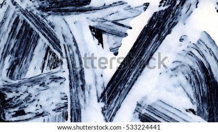 Dynamic White brush strokes on black background zen style background and texture  #533224441