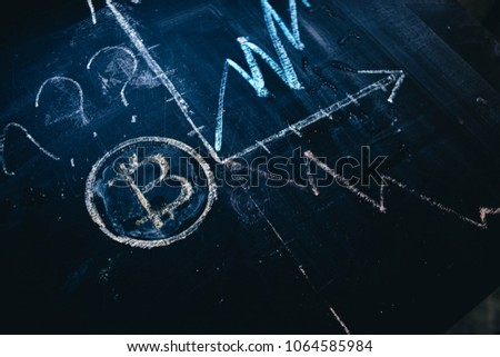 dynamics of positive or negative dynamics of growth of crypto-currency bitcoin. #1064585984