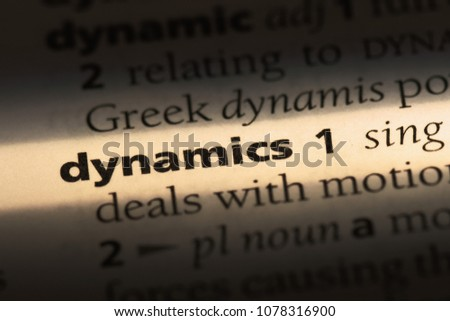 dynamics word in a dictionary. dynamics concept #1078316900