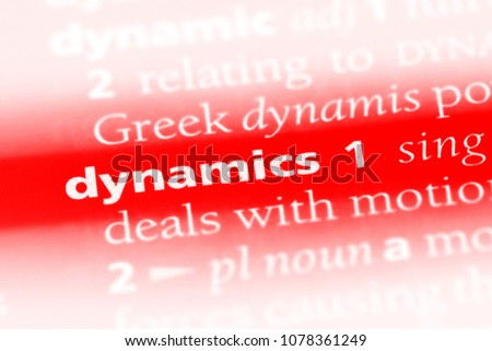 dynamics word in a dictionary. dynamics concept #1078361249