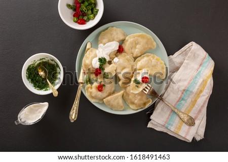 dyush Vara, dumplings, varenyky. Turkish cuisine, Ukrainian cuisine.