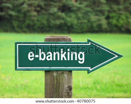 E-BANKING road sign