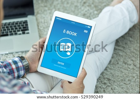 E-BOOK CONCEPT ON SCREEN