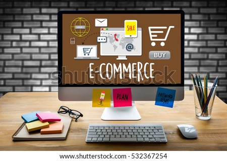 E-Commerce Add to Cart Online  Order Store Buy shop  Online payment Shopping business and modern lifestyle