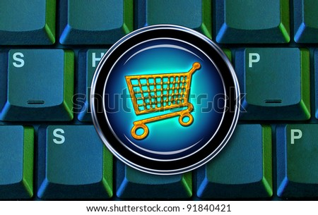 E-Commerce and Shopping on the Computer.