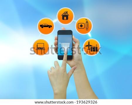 e-commerce concept,online shopping