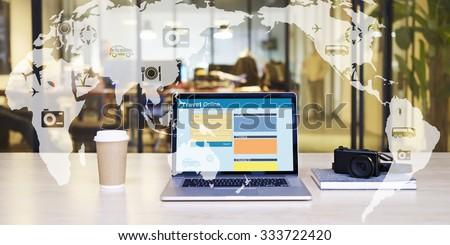 e-commerce concept: travel online