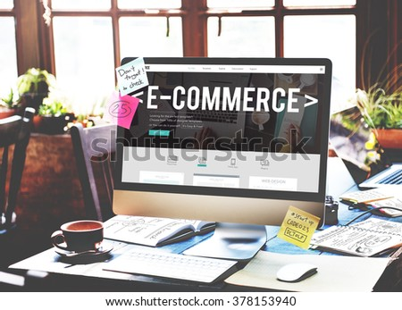 E-Commerce Digital Email Internet Technology Concept - Shutterstock ID 378153940