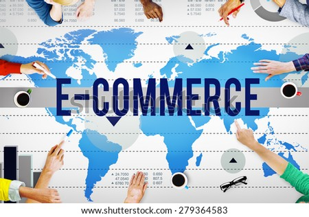 E-Commerce Online Networking Technology Marketing Business Concept