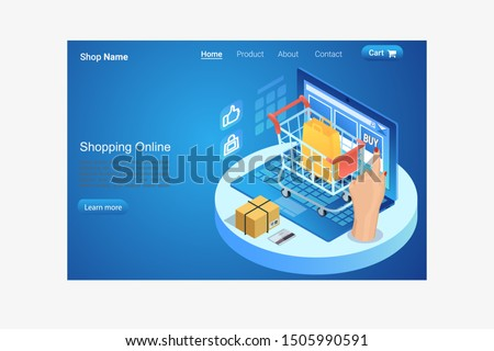 E Commerce Online Shopping store landing page