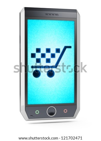 e-commerce  This is my own design of smart phone, therefore you can use this picture for commercial purposes. Full collection of icons like that is in my portfolio