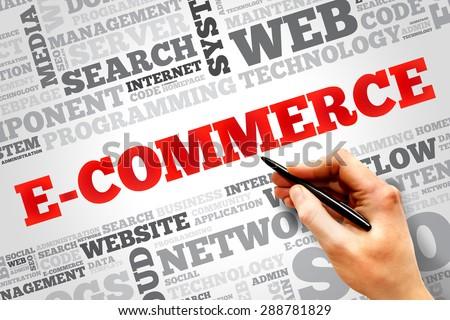 E-COMMERCE word cloud, business concept