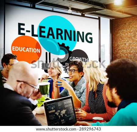 E-learning Education Growth Knowledge Information Concept