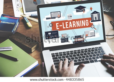E-learning Education Internet Technology Network Concept #448335865