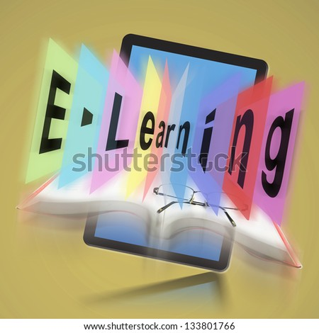E-learning on Digital tablet, The concept E-learning