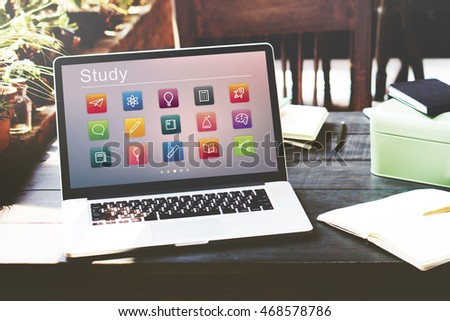 E-learning Online Education Application Concept - Shutterstock ID 468578786