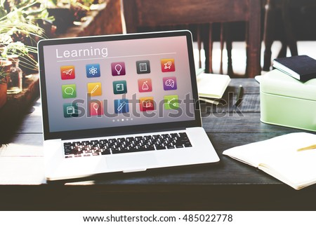 E-learning Online Education Application Concept - Shutterstock ID 485022778