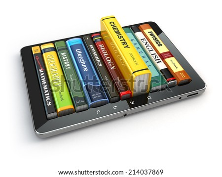 e learning.  tablet pc and...