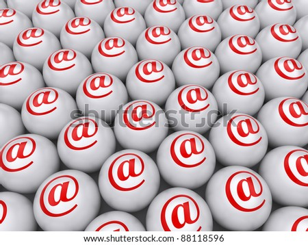 E-mail abstract background. 3d rendered image