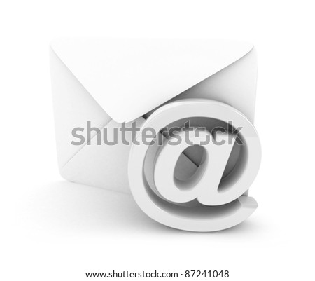 E-mail concept 3D rendered isolated