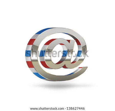 E-mail concept symbol on a light background