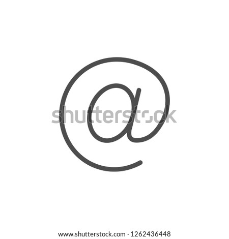 E-mail line icon isolated on white