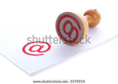 E-MAIL red rubber stamp