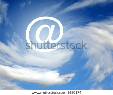 E-mail sign in clouds