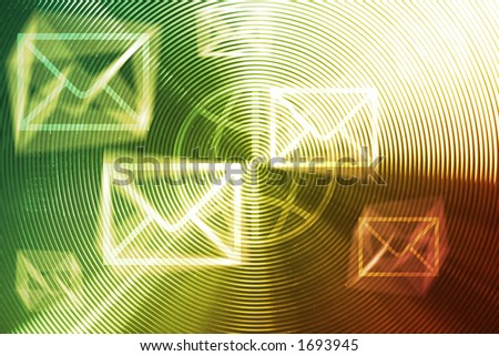 E-mails / mails invasions - conceptual background for junk mail, spam, connection, etc