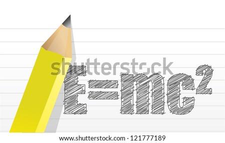 e mc2 illustration design over