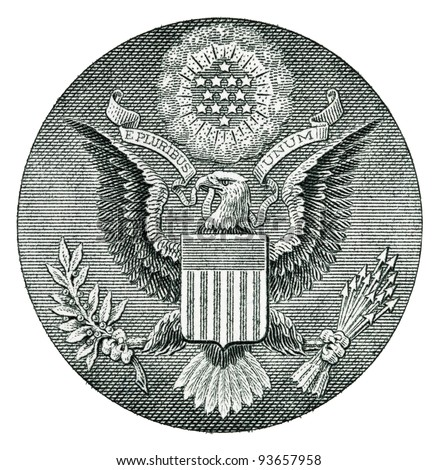 E Pluribus Unum Seal on the US Dollar Bill
