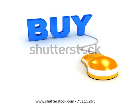 E-shop concept over white background. computer generated image
