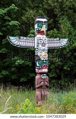 eagle totem tribal ancient symbol tradition colorful #1047383029
