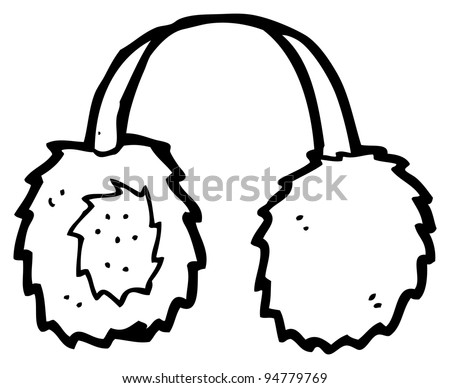 Ear Coloring Page Muffs Cartoon