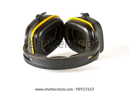 Ear protector on white background