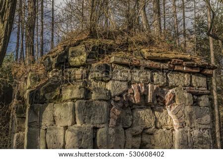 Earl chapel near Straci village in winter forest Zdjęcia stock ©