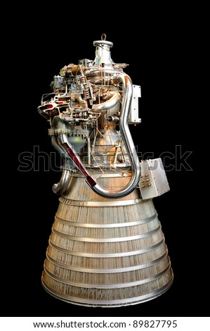 Early Hydrogen and Oxygen designed rocket engine.
