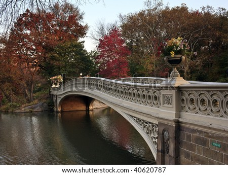 bow bridge in central park nyc. ow bridge in Central Park