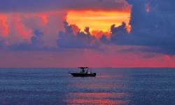 Early morning fishing off Ocean Inlet near Boynton Beach, Florida