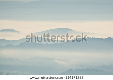Early Morning Fog in the Mountains