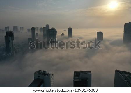 Early morning fog over Tel Aviv, Israel January 4, 2021.