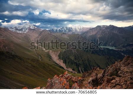 Early morning in Tien-Shan mountains, Kazakhstan