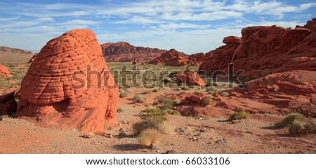 Early morning landscape at the Beehives in the Valley of Fire, Nevada.