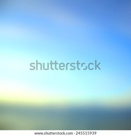 Early Morning Light, Blurred Sunrise Background, the Natural Lighting Phenomena.
