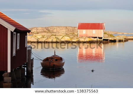 Stock Photo Early morning light in the west coast of Sweden