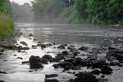 Early morning mist on a river